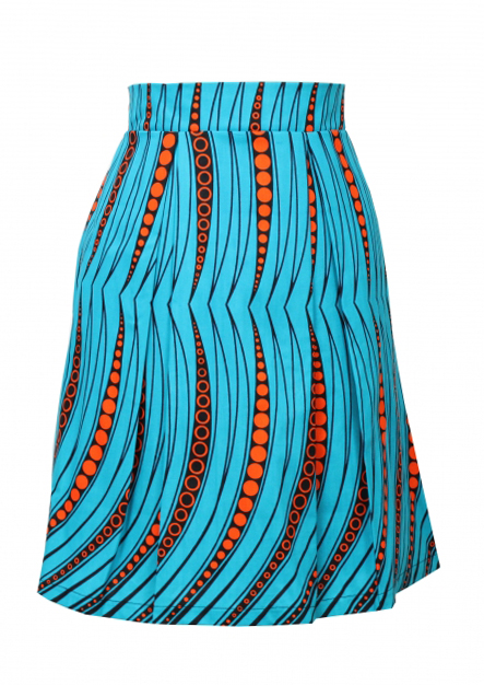 Taye-african-print-pleat-skirt-afrykanskie-spodnie-turquoise-orange-bead