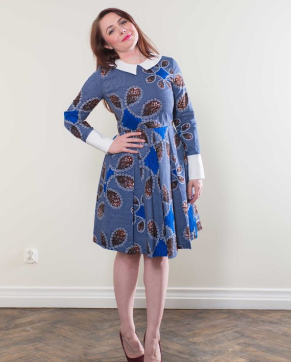 Taye-africanprints-dress-peterpancollar-ubrania-afrykanskie-moda-w-warszawa