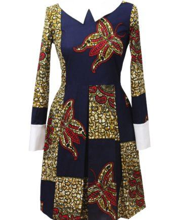 Taye-africanprints-dress-peterpancollar-ubrania-afrykanskie-moda-w-warszawa-skleponline-zakupyonline-greenandwhite-dress2