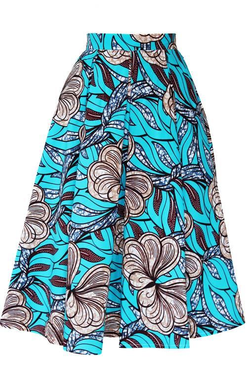 TAYE-african-print-midi-skirt-afrykanskie-midi-Spodnice-moda-damskie-blue-flower2