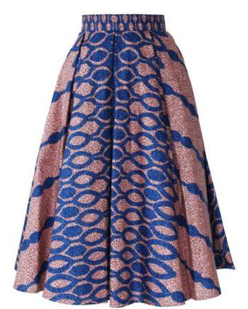 TAYE-african-print-midi-skirt-afrykanskie-midi-Spodnice-moda-damskie-blue-front