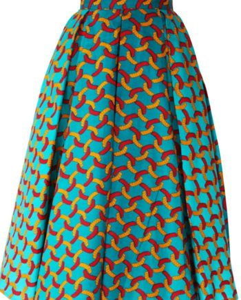 TAYE-african-print-midi-skirt-afrykanskie-midi-Spodnice-moda-damskie-green-army-and-red-front-min