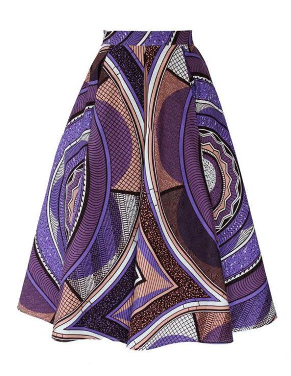 TAYE-african-print-midi-skirt-afrykanskie-midi-Spodnice-moda-damskie-purple-front