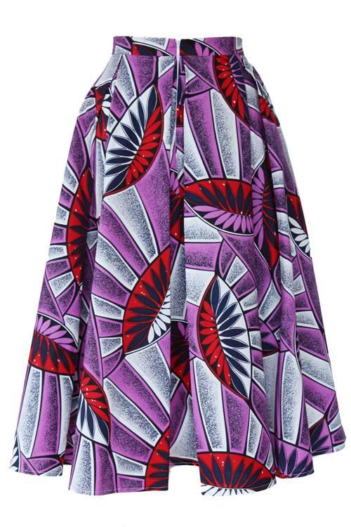 TAYE-african-print-midi-skirt-afrykanskie-midi-Spodnice-moda-damskie-purple-leaves-back
