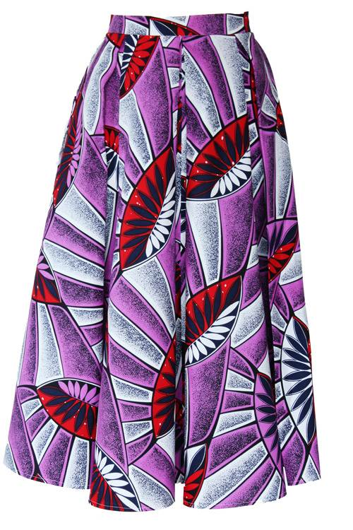 TAYE-african-print-midi-skirt-afrykanskie-midi-Spodnice-moda-damskie-purple-leaves-front