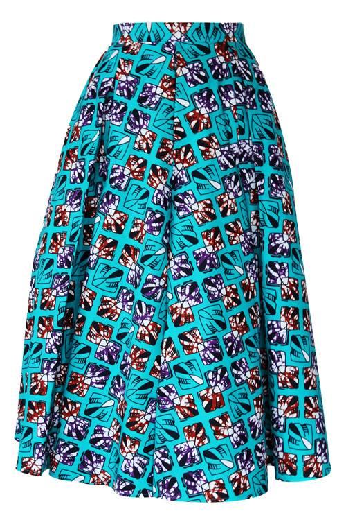 TAYE-african-print-midi-skirt-afrykanskie-midi-Spodnice-moda-damskie-turquoise-burgundy-back