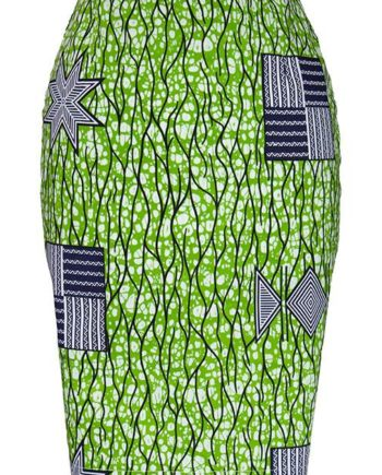TAYE-african-print-pencil-skirt-afrykanskie-olowkowe-Spodnice-moda-damskie-green-and-white-front