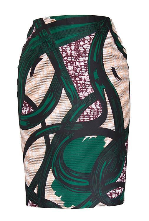 TAYE-african-print-pencil-skirt-afrykanskie-olowkowe-Spodnice-moda-damskie-olive-cream-burgundy-front