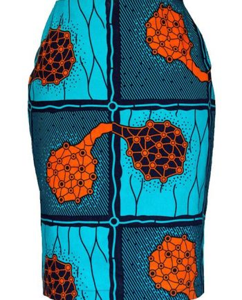 TAYE-african-print-pencil-skirt-afrykanskie-olowkowe-Spodnice-moda-damskie-orange-and-turqouise-front