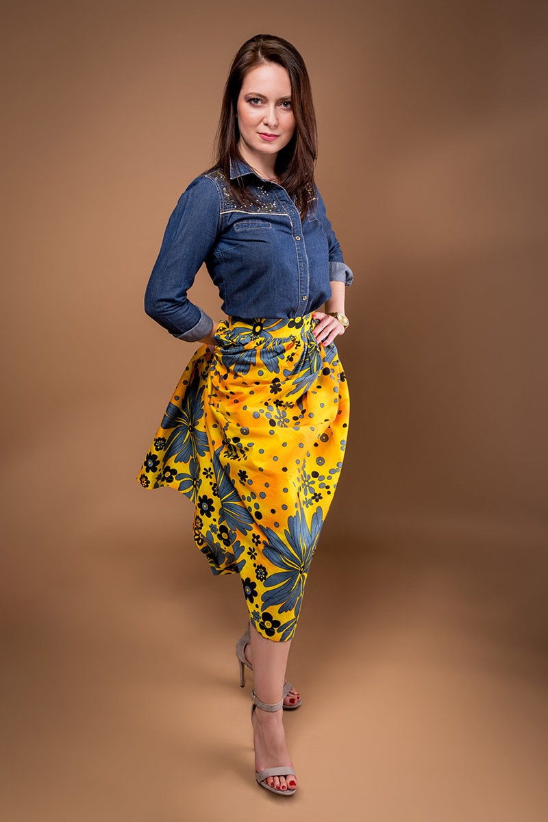 e0224ac34e18 Sunflower maxi skirt - TAYE - Shop now - www.tayelolu.com