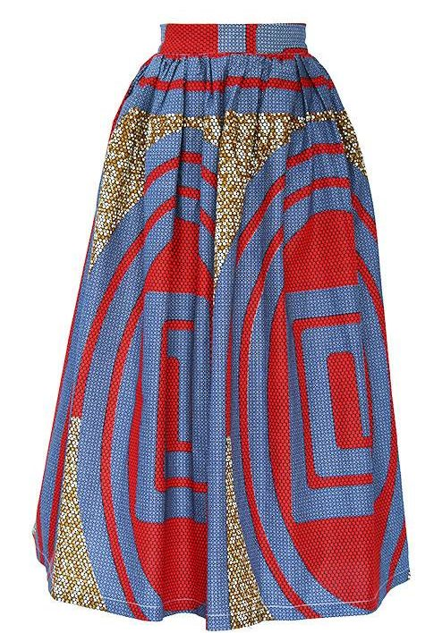 TAYE-african-print-wax-maxi-skirt-spodnice-afrykanskie-maxi-red-grey-brown-front