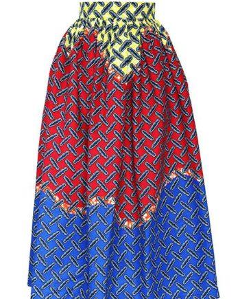 TAYE-african-print-wax-maxi-skirt-spodnice-afrykanskie-maxi-red-yellow-blue-front