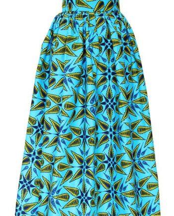 TAYE-african-print-wax-maxi-skirt-spodnice-afrykanskie-maxi-turqouise-yellow-front