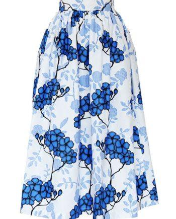 TAYE-african-print-wax-maxi-skirt-spodnice-afrykanskie-maxi-white-blue-flower-sky-blue-front
