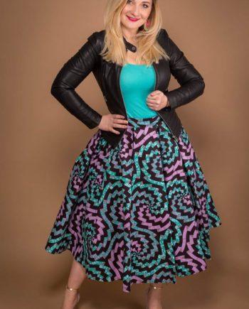 taye-afrykański-wosk-midi-spodnice-afrykanskie-kolor-spodnice-moda-damskie-lilac-zielony-Plisowane