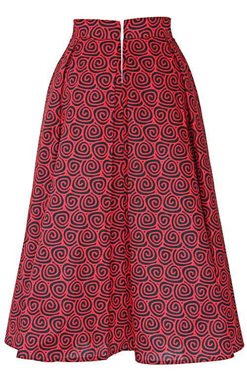 TAYE-african-print-wax-midi-skirt-afrykanskie-kolor-spodnice-moda-damskie-red-and-black-back