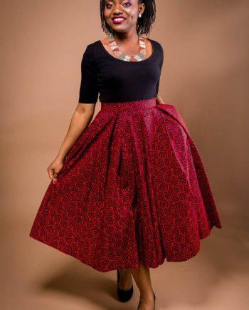 TAYE-african-print-wax-midi-skirt-afrykanskie-kolor-spodnice-moda-damskie-red-and-black-full