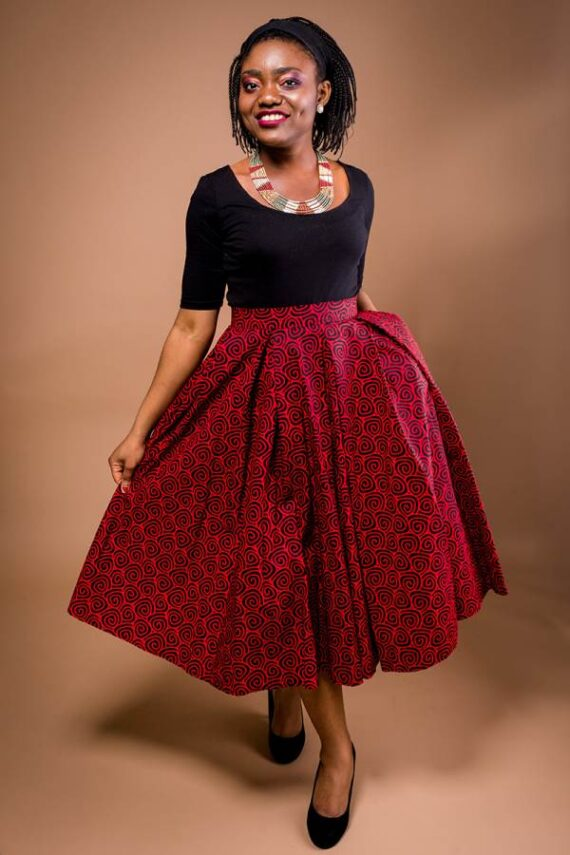 TAYE-african-print-wax-midi-skirt-afrykanskie-kolor-spodnice-moda-damskie-red-and-black-full