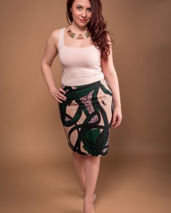 TAYE-african-print-wax-pencil-skirt-green-and-burgundy-min