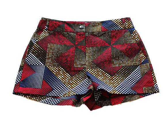 Taye-african-print-shorts-Afrykanskie-szorty-moda-polsce-navy-red-white-front1