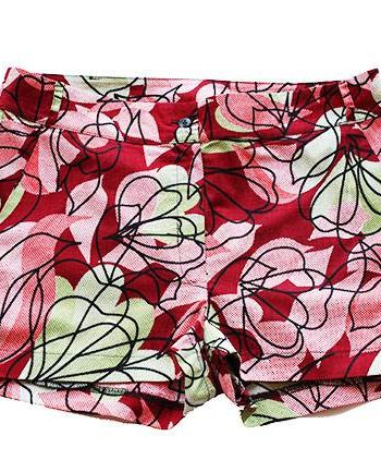Taye-african-print-shorts-Afrykanskie-szorty-moda-polsce-shade-red-pink-green-front