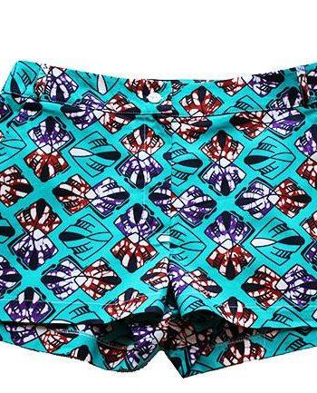 Taye-african-print-shorts-Afrykanskie-szorty-moda-polsce-turquoise-burgundy-front1