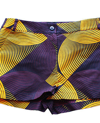Taye-african-print-shorts-Afrykanskie-szorty-moda-polsce-yellow-and-burgundy1-front