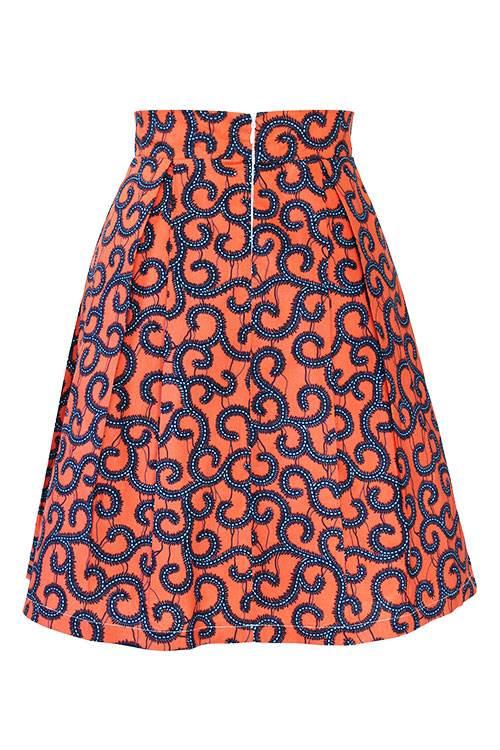 Taye-african-print-pleat-flare-skirt-orange-blue-afrykanskie-mini-spodnice-spodnia-back
