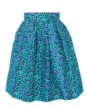 Taye-african-print-pleat-flare-skirt-turquoise-blue-purple-afrykanskie-mini-spodnice-spodnia-front