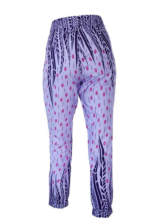 Taye-african-print-trouser-afrykanskie-spodnie-purple-lilac-pink-back