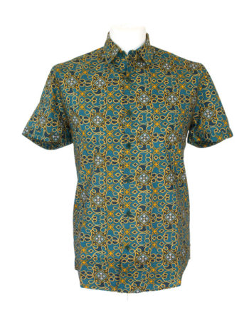 men-shirt-meski-koszule-african-print-afrykanskie-wzory-tunde-button-up-collared-short-sleeve-Men-shirt