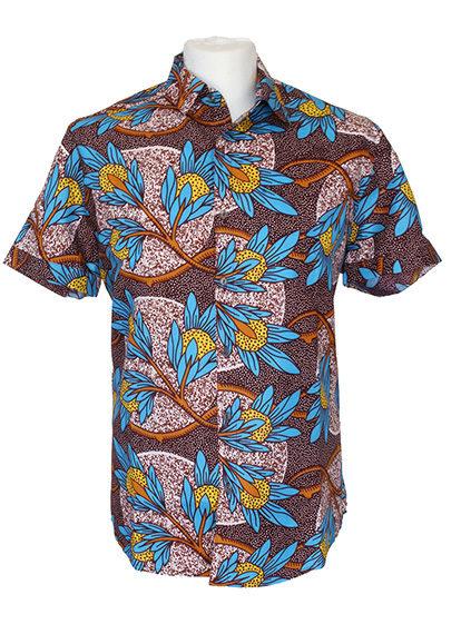 men-shirt-meski-koszule-african-print-afrykanskie-wzory-Teju-brown-kupic