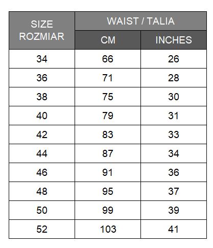 maxi-mini-midi-size-chart-for- women-tabela-rozmiarow-damska-spodnica