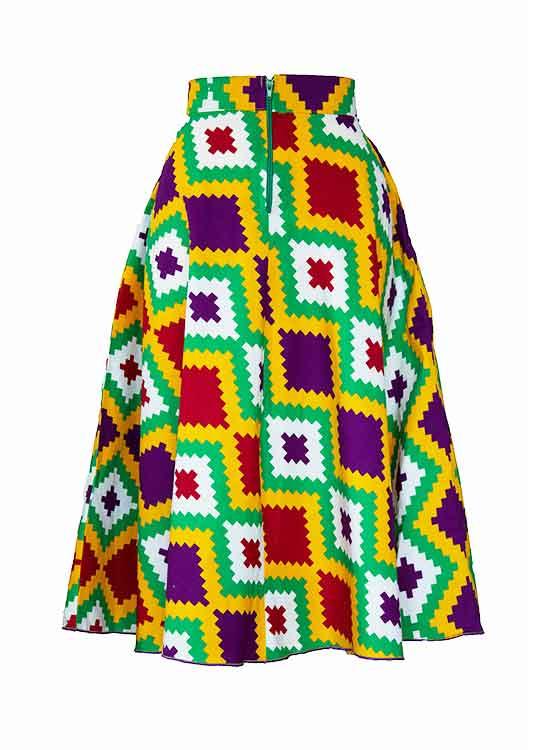 Kente-yellow-midi-skirt-ghana-wroclaw-damska-spodnica-w-polsce-gdansk-moda-afryka-kobieta