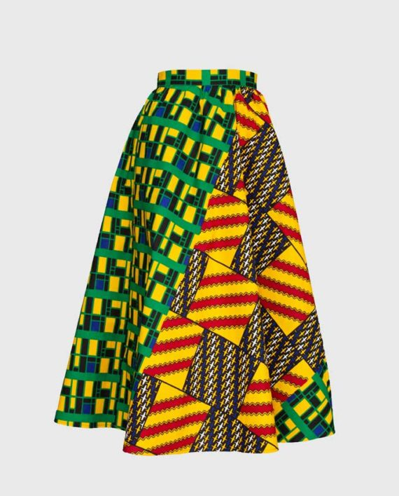 Kent-green-midi-skirt-ghana-wroclaw-damska-spodnica-w-polsce-gdansk-moda-afryka-kobieta