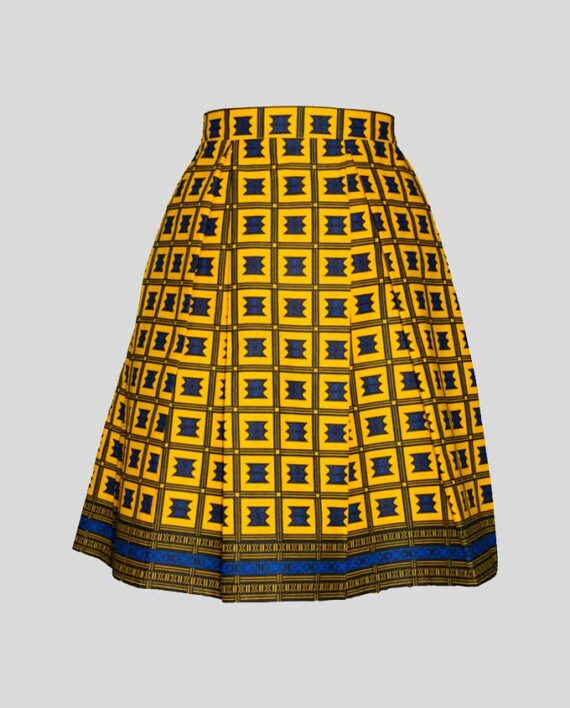 Abebi-pleat-skirt-with-pockets-women-skirt-african-prints-clothes-garment-moda damska