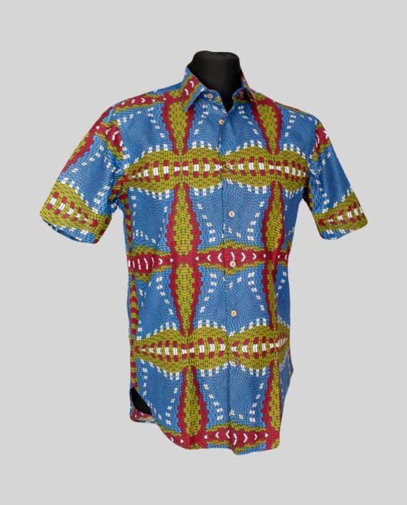Funbi-fitted-men's-shirt-ktroki-rekaw-meska-koszula-afrykanskie-odziez-w-polsce