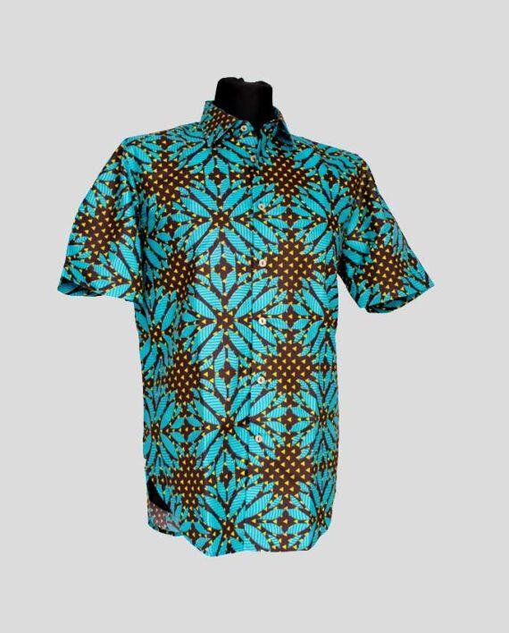 Busayo-african-print-shirt-short-sleeve-meska-koszula